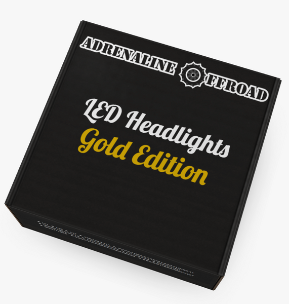 Gold Edition LED Headlights (Pair) - Adrenaline Offroad Outfitters