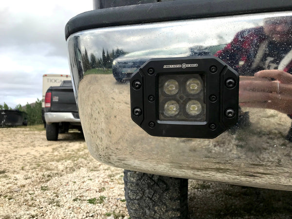 Black Edition Cree LED Flush Mount Pods (Pair) - Adrenaline Offroad Outfitters
