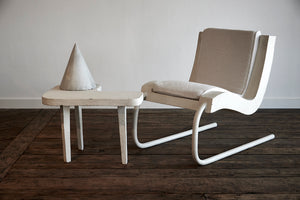 French Concrete Lounge Chair