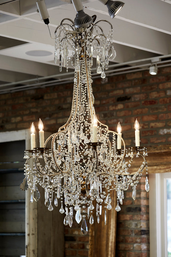 Antique Italian Crystal Chandelier
