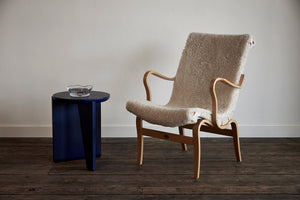 Bruno Mathsson Side Chair with Sheepskin
