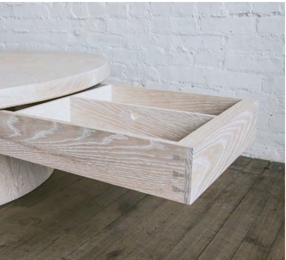 Stave Coffee Table with Drawer