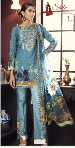 Pakistani embroidered lawn Salwar suit