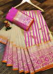Cotton Silk Weaving Beige Traditional Wear Saree