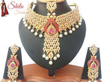 Gold Plated Kundan Zerconic Bollywood Ethnic Jewelry Sets