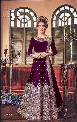 Swagat violet Gown Anerkoli
