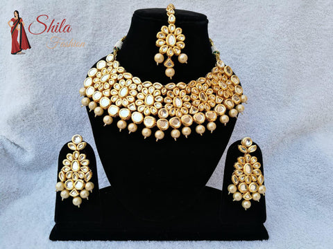 Indian Necklace Jewelry Set Kundan Choker