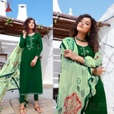 PURE JAM SILK WITH EMBROIDERY WORK SHALWAR SUIT