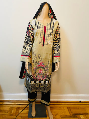 pakistani embroidery work salawr kameez