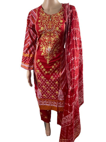 Pure Lawn Cotton Embroidered Printed Pakistani Salwar Suit