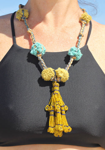 Apsara beaded necklace