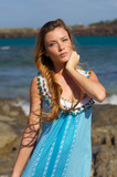 Belize Maxi dress aqua