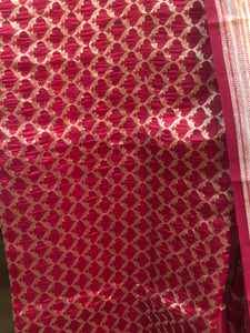 Red Pure Katan Silk Suit