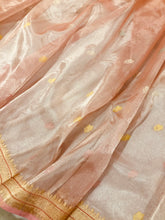 Load image into Gallery viewer, BABY PINK BANARASI HANDLOOM PURE TISSUE ORGANZA SAREE