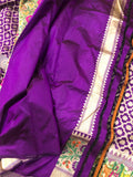 PURPLE PURE BANARASI HANDLOOM KATAN SILK SAREE