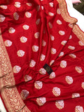 RED BANARASI HANDLOOM KATAN SILK SAREE (PATANG)