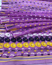 Load image into Gallery viewer, PURPLE HANDLOOM COTTON JAMDANI SAREE