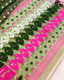 MEHNDI GREEN HANDLOOM COTTON JAMDANI SAREE