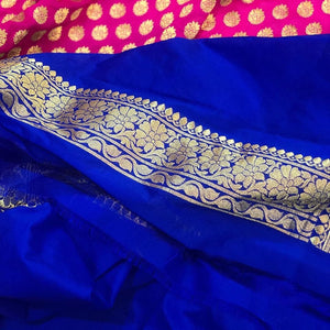 PINK BANARASI HANDLOOM COTTON SILK SAREE