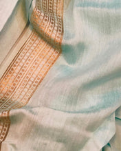 Load image into Gallery viewer, CREAM BANARASI HANDLOOM PURE COTTON SAREE