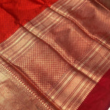 ORANGE BANARASI HANDLOOM KATAN SILK SAREE