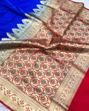 ROYAL BLUE BANARASI HANDLOOM SOFT SILK SAREE