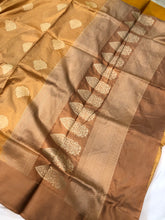 Load image into Gallery viewer, MUSTARD YELLOW BANARASI HANDLOOM PURE KATAN SILK SAREE