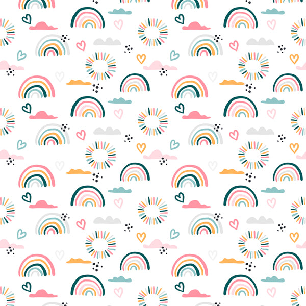 Baby Receiver - Colorful Hand Drawn Rainbows