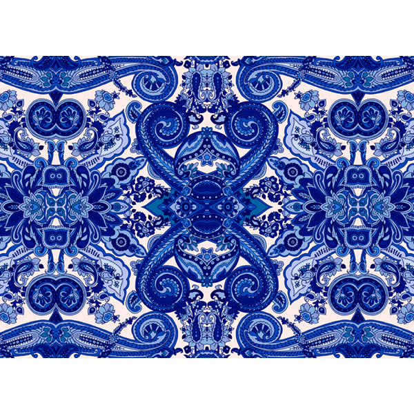 Headboard - Delft Blue Pattern