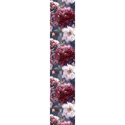 Natural Cotton Runner - Pencil Floral