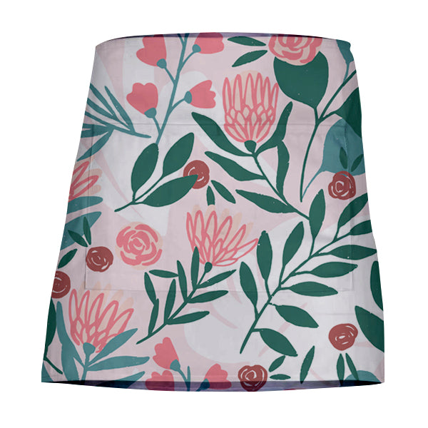 Waist Apron Natural Cotton - Protea & Eucalyptus