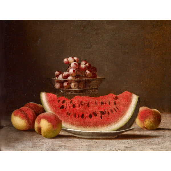 Natural Linen Bread Towels - Still Life With Watermelon