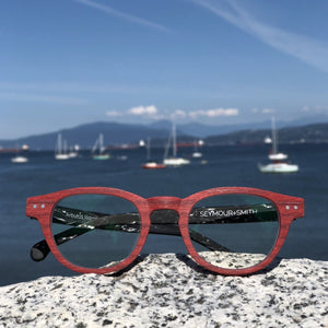 Arbutus Ridge Reader for Women - Red Round Frame