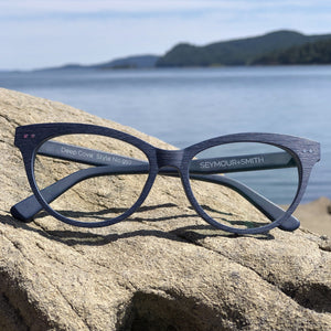 Deep cove blue reading glasses for women seymour and smith