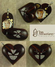 Load image into Gallery viewer, B107 Cremation Ash Butterfly Locket With Secret Compartments Coco Bolo Wood