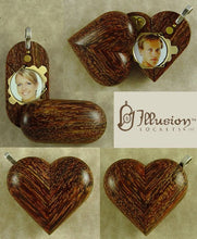 Load image into Gallery viewer, B129 Cremation Ash Camelthorn Wood Illusionist Locket With Secret Compartments