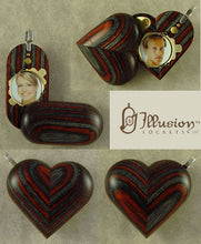 Load image into Gallery viewer, B135 Cremation Ash Wood Illusionist Locket With Secret Compartments