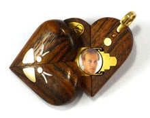 Load image into Gallery viewer, 1587 Thin Chechen Wood Gold Butterfly Illusionist Locket