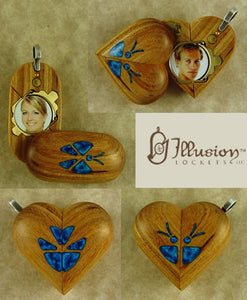 B192 Cremation Ash Butterfly Locket With Secret Compartments