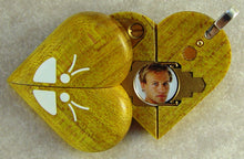 Load image into Gallery viewer, 2047 Thin Yellow Curly Maple Wood Butterfly Illusionist Locket