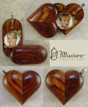 Load image into Gallery viewer, 2647 Slim No Image Honduran Rosewood Illusionist Locket