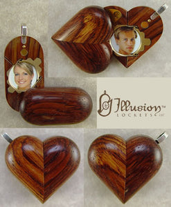 2647 Slim No Image Honduran Rosewood Illusionist Locket