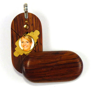 2859 Thin Honduran Rosewood Illusionist Locket