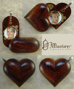 2861 Slim No Image Coco Bolo Wood Illusionist Locket