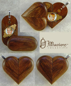 2891 Thin Chechen Wood Illusionist Locket