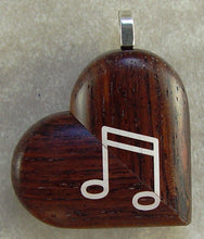 Load image into Gallery viewer, 3012 Thin Honduras Rosewood Piano Music Note Illusionist Locket