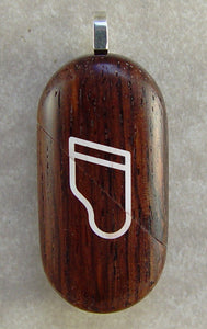 3012 Thin Honduras Rosewood Piano Music Note Illusionist Locket