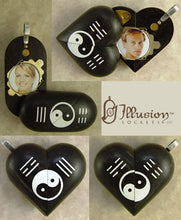 Load image into Gallery viewer, B031 Ebony Wood Cremation Ash Yin Yang Locket With Secret Compartments