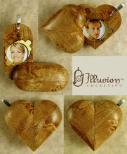 Load image into Gallery viewer, 3254 Slim No Image Birdseye Maple Wood Illusionist Locket