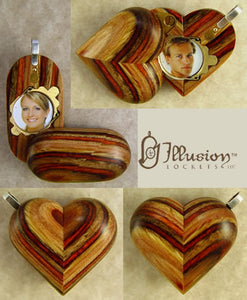 3326 Slim No Image Wood Illusionist Locket